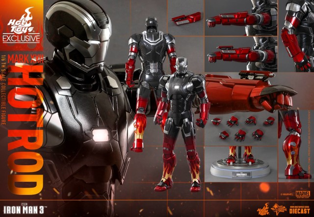 Hot Toys Iron Man Hot Rod Armor Die-Cast Figure and Accessories