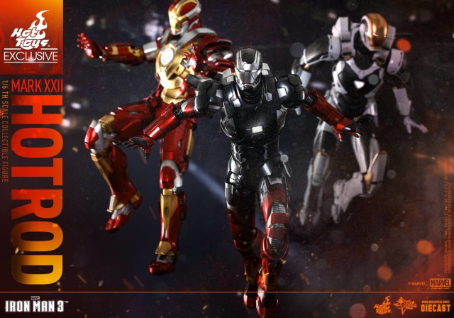 Iron Man 3 Hot Toys Armors Heartbreaker Starboost Hot Rod Figures