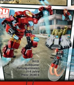 LEGO Hulkbuster Rescue Mission 76031 Set