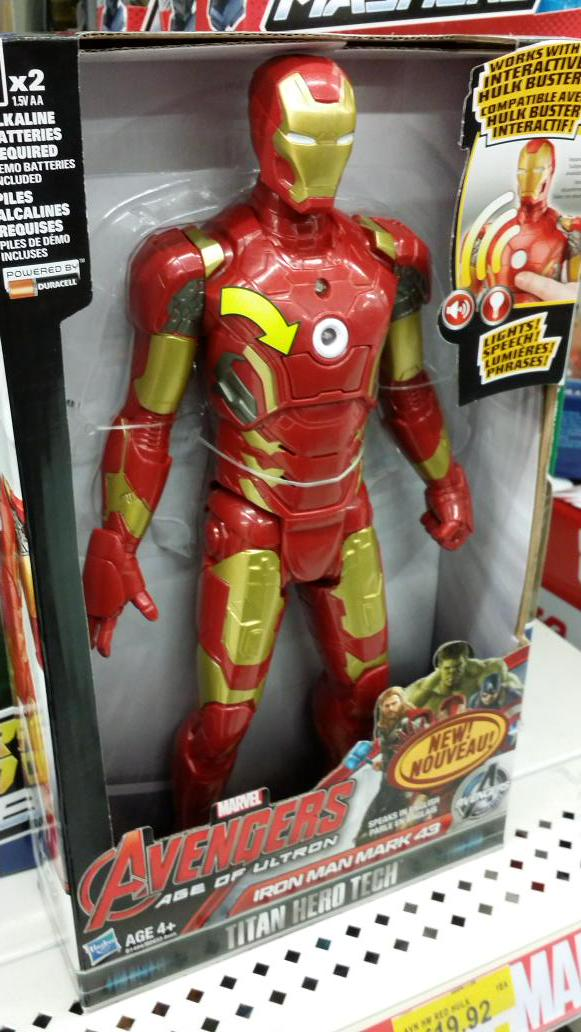 Avengers Age of Ultron Iron Man Mark 43 Titan Hero Tech Figure