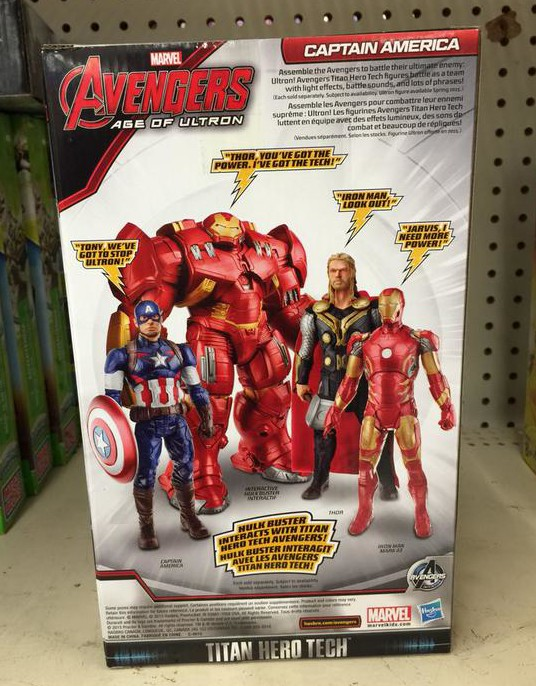 Box Back Avengers Age of Ultron Titan Hero Tech Figures