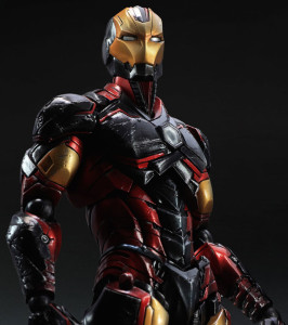 Close-Up of Marvel Play Arts Kai Iron Man Variant Figure