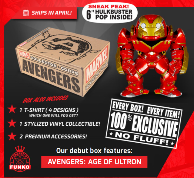 Marvel Collectors Corps April 2015 Avengers Box