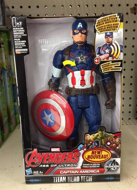 Titan Hero Tech Captain America Avengers Age of Ultron Figure