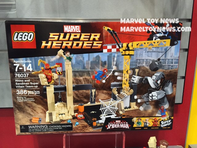 New York Toy Fair 2015: LEGO Rhino and Sandman Supervillain Team-Up 76037 Box