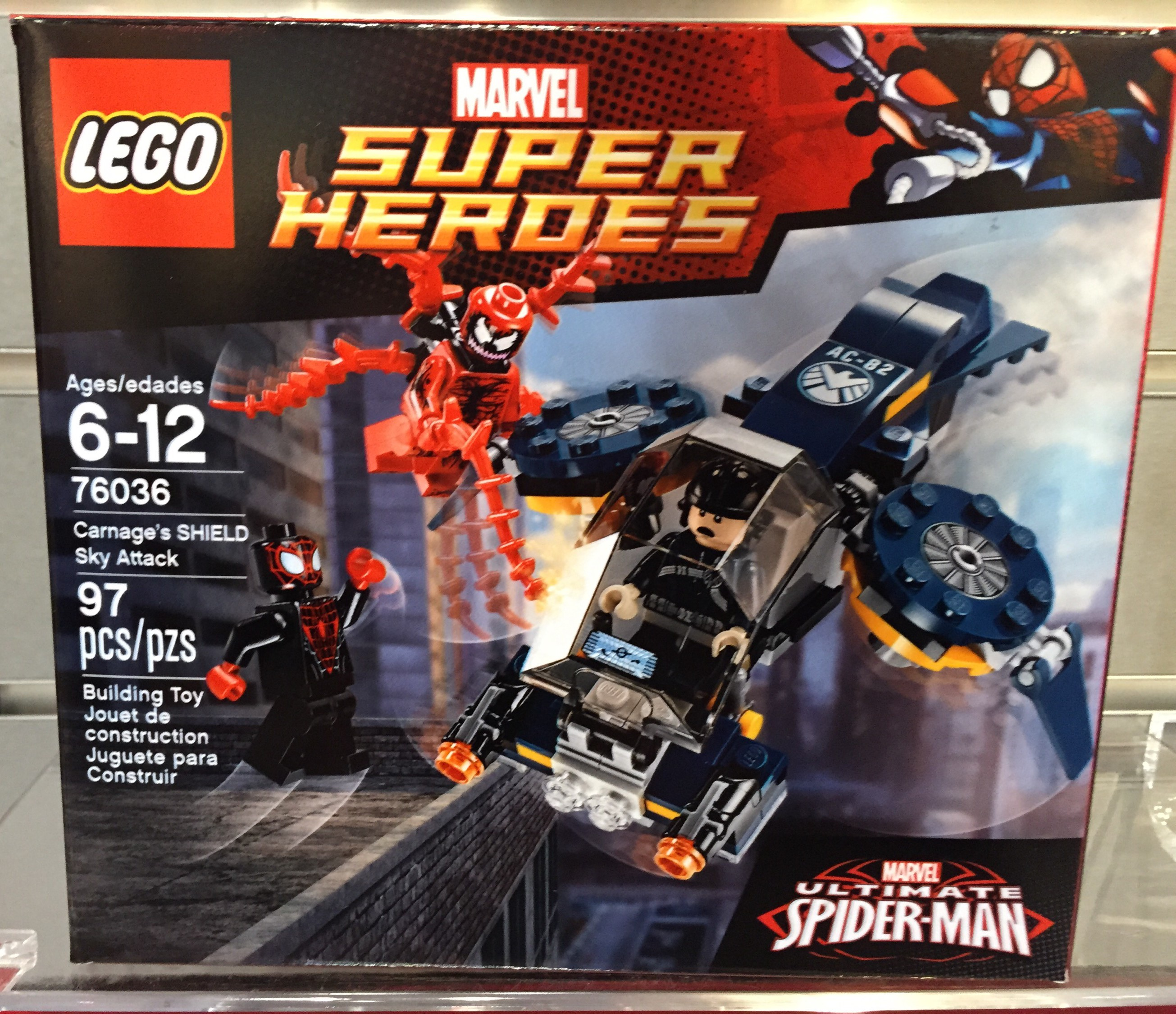 LEGO Marvel Carnage's SHIELD Sky Attack 76036! Toy Fair 2015 ...