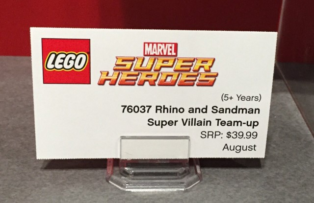 76037 LEGO Superheroes Placard Rhino and Sandman Team-up
