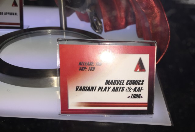 Play Arts Kai Marvel Variant Thor Placard NY Toy Fair 2015