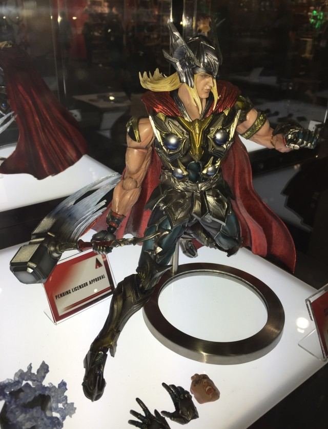 2015 New York Toy Fair Marvel Play Arts Kai Thor Figure