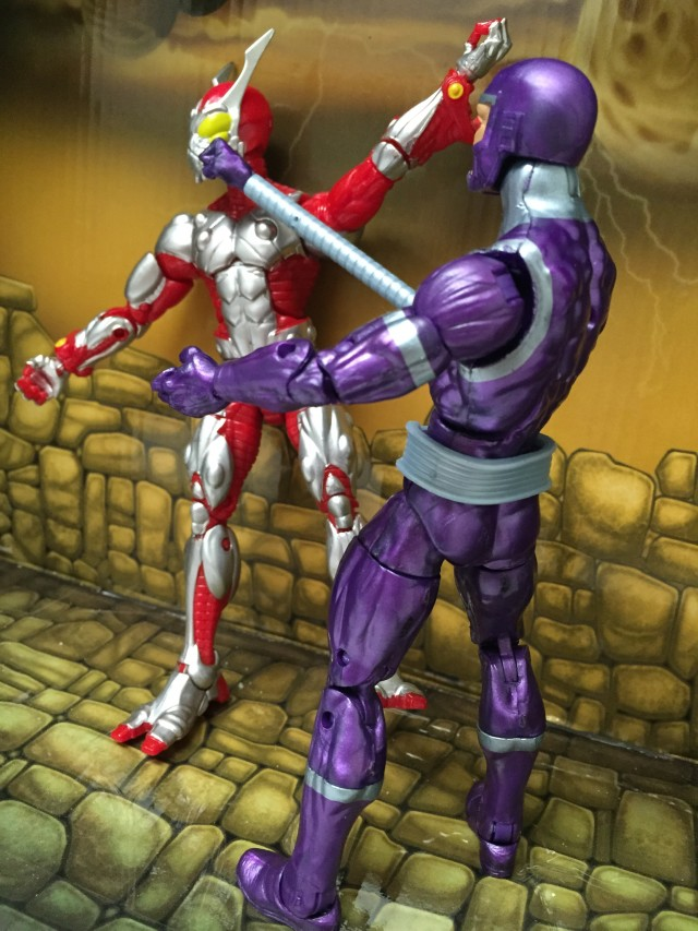 Avengers Marvel Legends Machine Man Punches out Ultimate Beetle