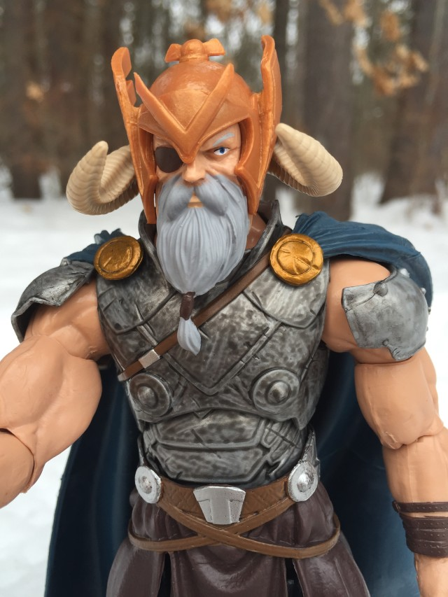 Marvel Legends Avengers Wave 1 Odin Build A Figure Close-Up