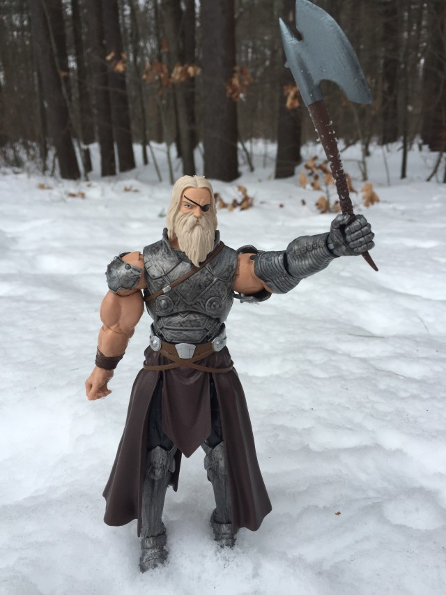 King Thor Marvel Legends Build-A-Figure Holding Up Axe