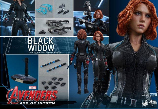 Avengers Age of Ultron Hot Toys Black Widow Figure and Accessories