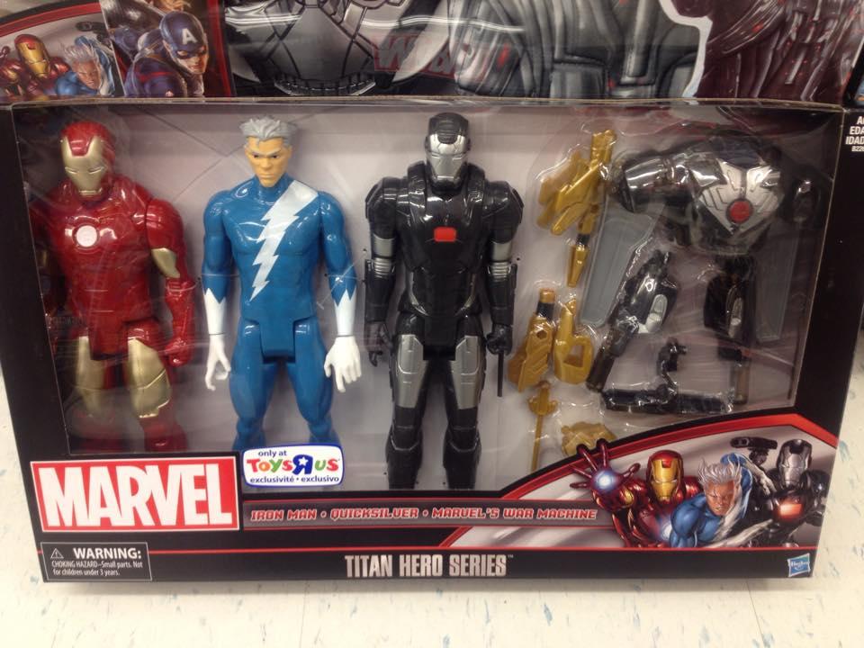 Hasbro Toys Iron Man, Quicksilver /& War Machine Marvel Titan Hero Series 12 Action Figure 3-Pack