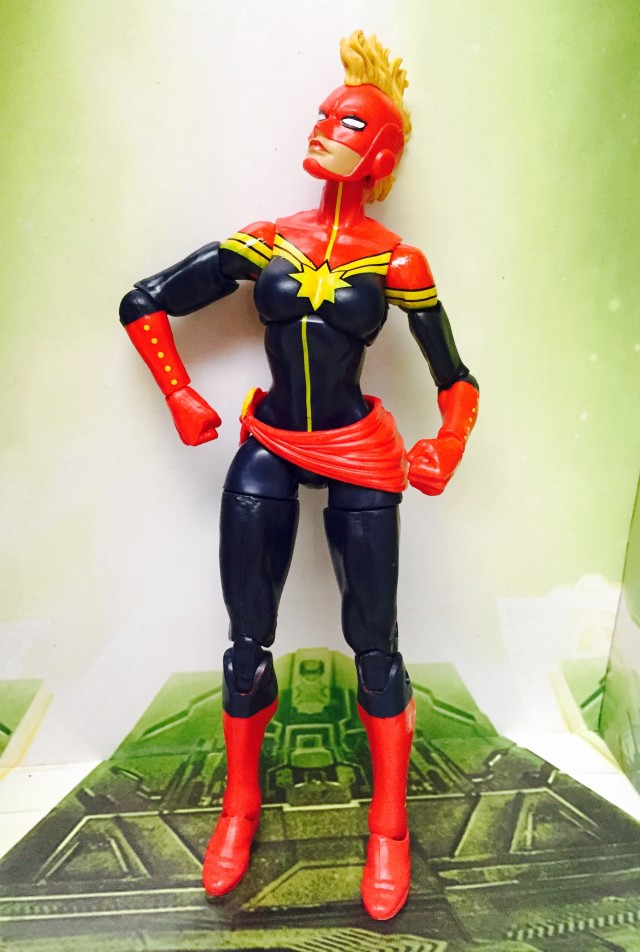 Avengers Legends Captain Marvel Figure Awkwardly Posed with Mohawk