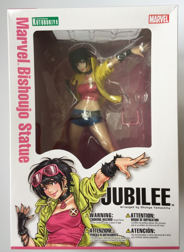 Kotobukiya Marvel Bishoujo Statue Jubilee Box Packaged