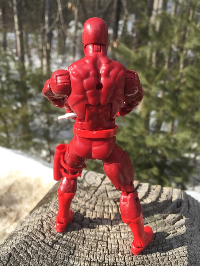 "Back of Marvel Legends 6"" Daredevil Spider-Man Legends Figure"