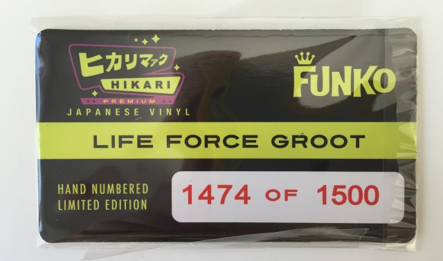 Life Force Groot Hikari LE 1500 Collector Card