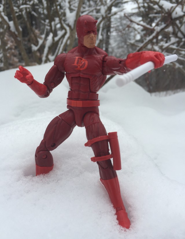 Marvel Legends Daredevil Billy Club Weapon Combined