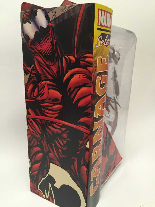 Marvel Select Carnage Box Art on Side of Packaging