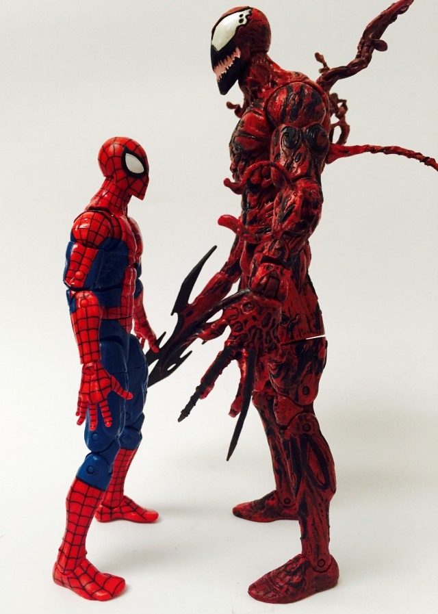Marvel Select Carnage Scale Comparison with Marvel Legends Spider-Man