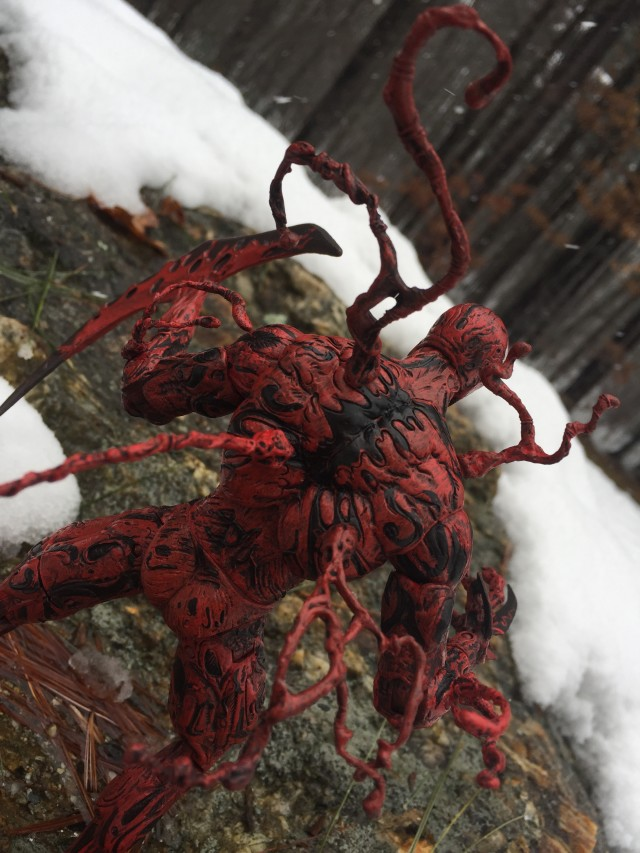 Tendrils on Back of Carnage Marvel Select Figure's Back