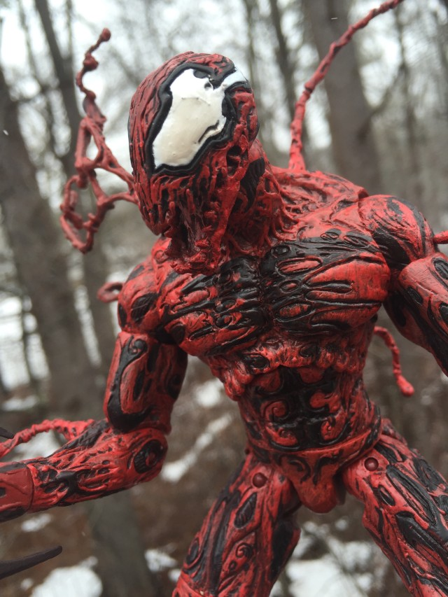 Modern Carnage Head on DST Carnage Action Figure
