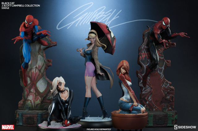 J. Scott Campbell Spider-Man Collection Statues Mary Jane Gwen Black Cat