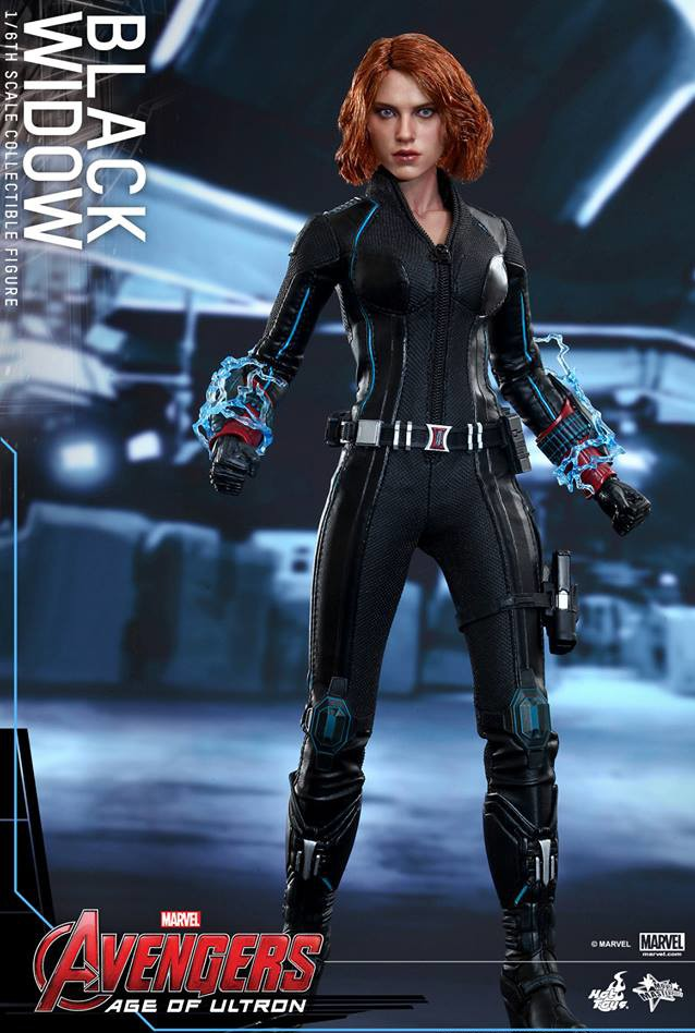 MMS288 Hot Toys Black Widow Widow's Bite Bracelets with Energy Effects Pieces