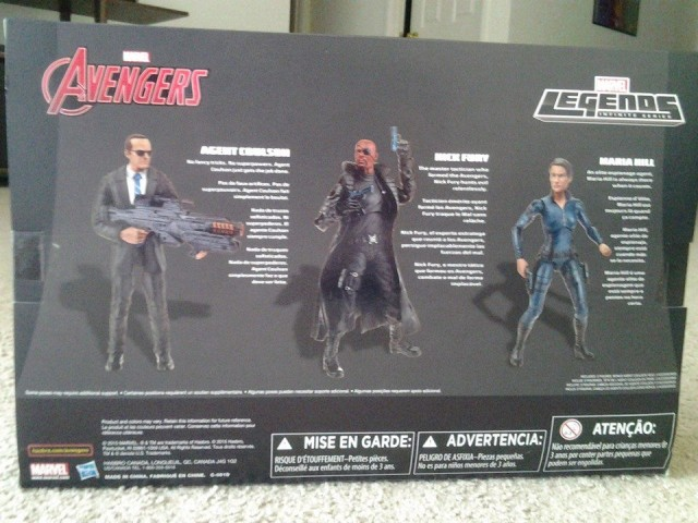 Marvel Legends 2015 Nick Fury Maria Hill Agent Coulson Box Back