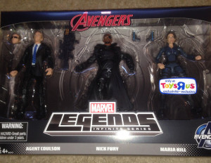 Marvel Legends Infinite Series Coulson Nick Fury Maria Hill Set