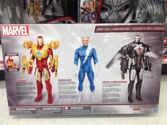 Marvel Titan Hero Quicksilver War Machine Iron Man Box Back