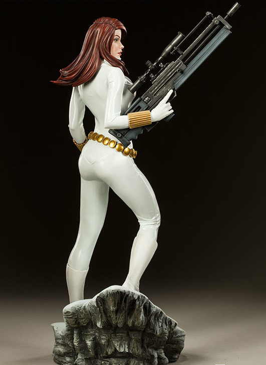 Premium Format White Costume Black Widow Statue Sideshow Collectibles