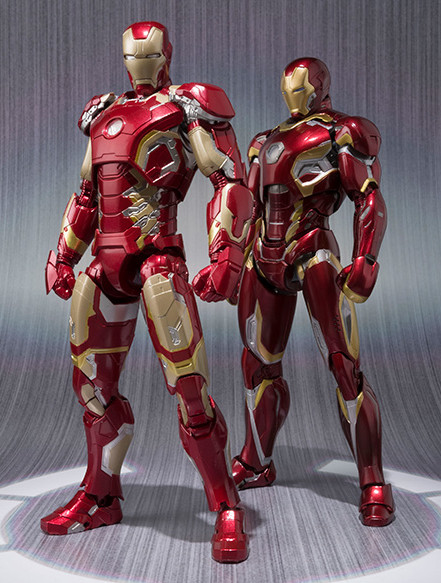 SH Figuarts Iron Man Mark 45 Figure Comparison with Mark 43