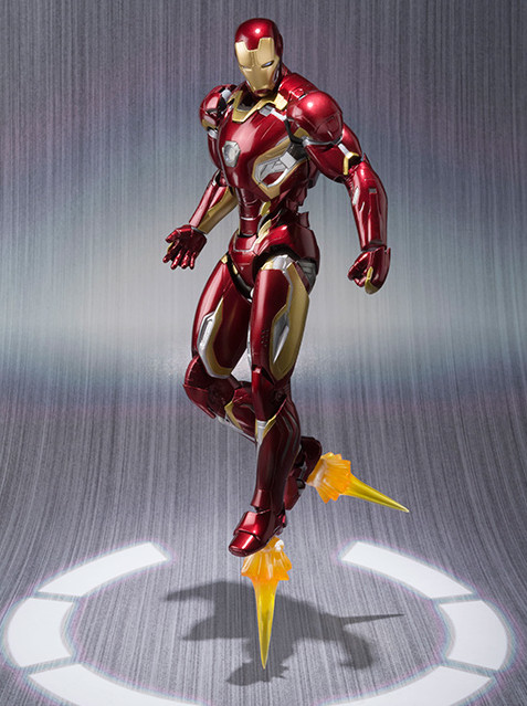 SH Figuarts Mark 45 Iron Man Figure Flying