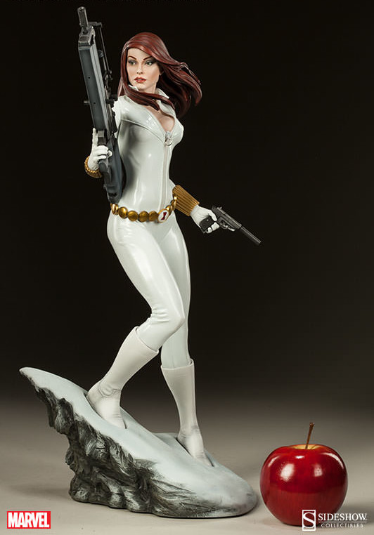 Sideshow Black Widow Premium Format Figure White Costume Variant