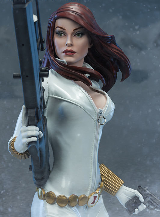 Sideshow Premium Format Black Widow White Costume Edition Statue