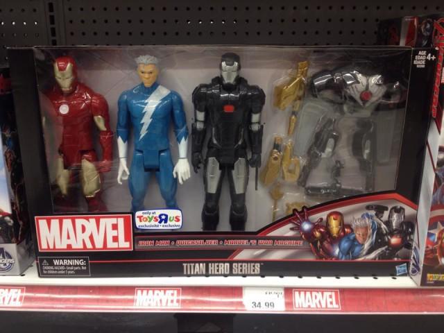Toys R Us Exclusive Marvel Titan Hero Pack Iron Man Quicksilver War Machine