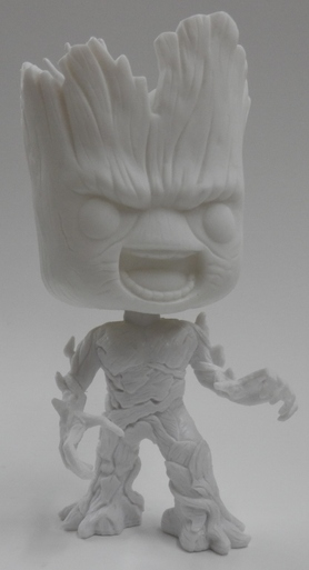 Angry Groot Funko POP Vinyls Prototype White