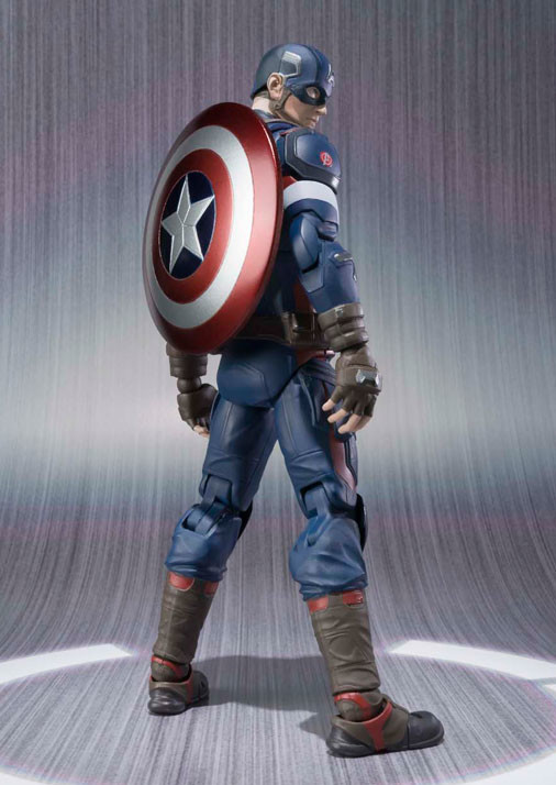 Back of Bandai Figuarts Captain America Action Figure