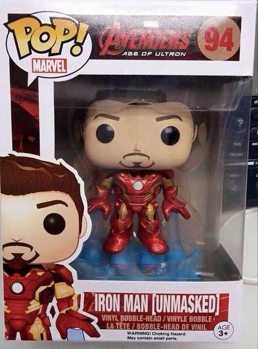 Funko Iron Man Unmasked POP Vinyls Tony Stark Age of Ultron