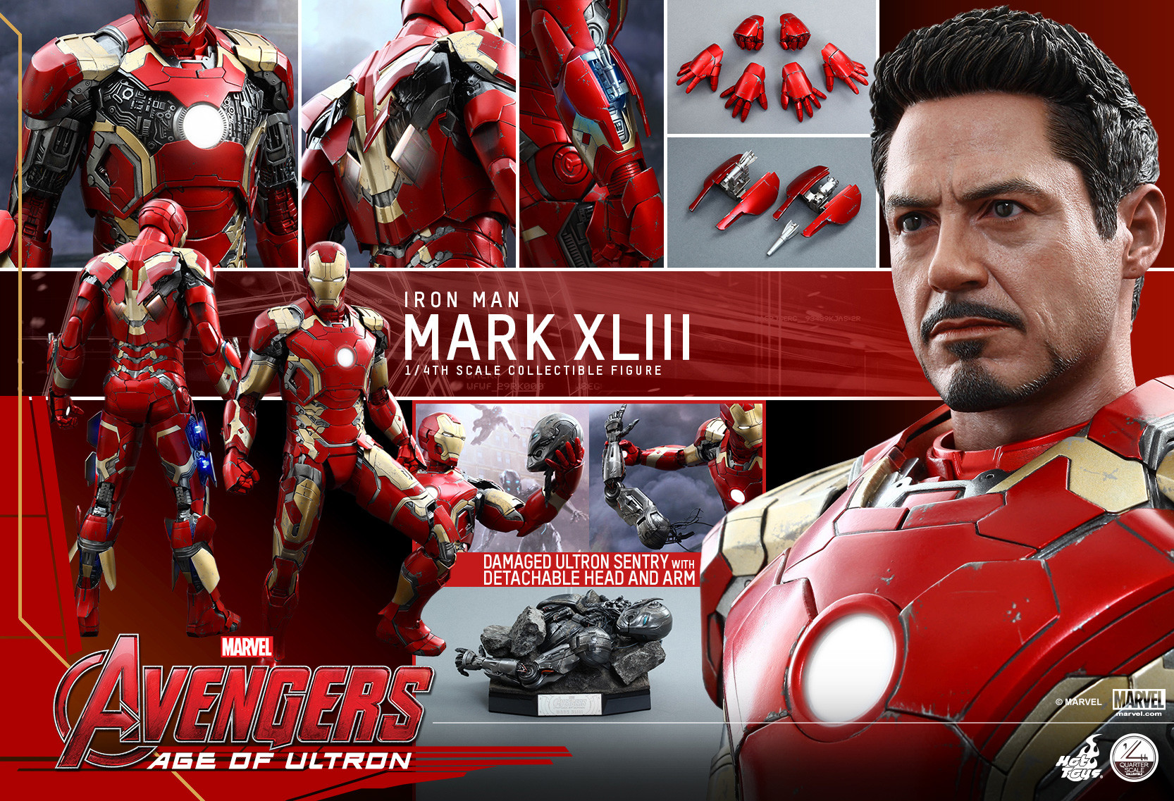 hot toys iron man mark 43 1  4 scale figure up for order