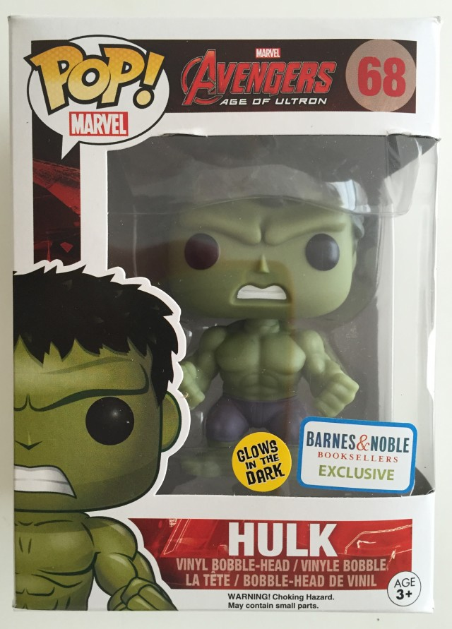 Funko POP Vinyls Glow in the Dark Hulk Figure Box