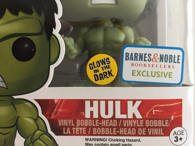 Barnes & Noble Exclusive Glow in the Dark Hulk Funko POP Vinyl Sticker