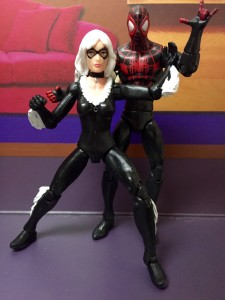 Marvel Infinite Series Black Cat & Miles Morales Figures