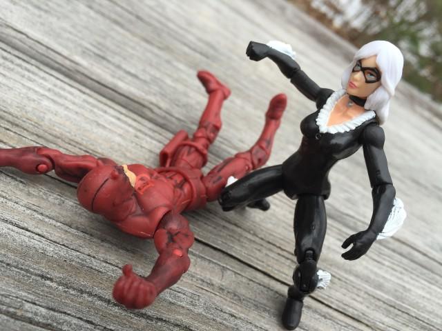 Hasbro 2015 Black Cat Marvel Infinite Series Figure Punches Daredevil