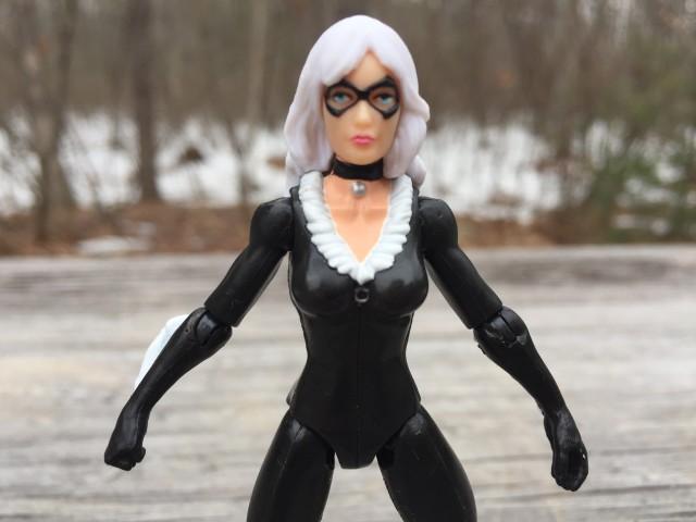 Close Up of Hasbro Marvel Infinite Series Black Cat Figure