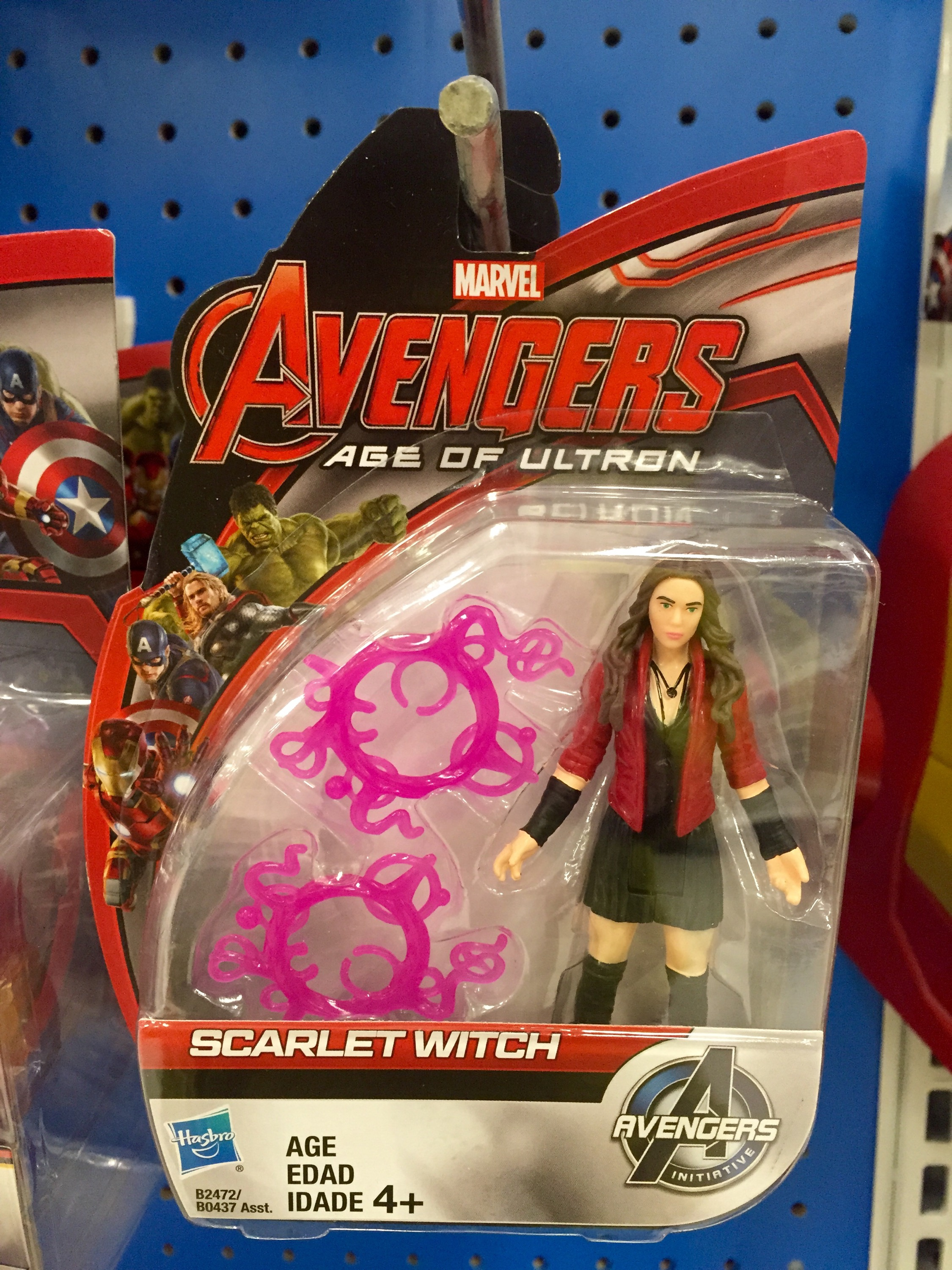 """Scarlet Witch Figure 3.75/"""" Avengers Age of Ultron Marvel All Star Universe 2015"""