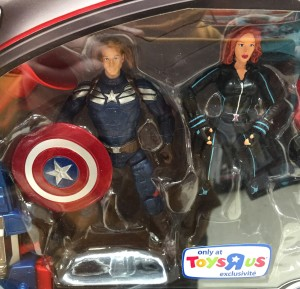 "3 3/4"" Avengers Age of Ultron Black Widow & Captain America Action Figures"