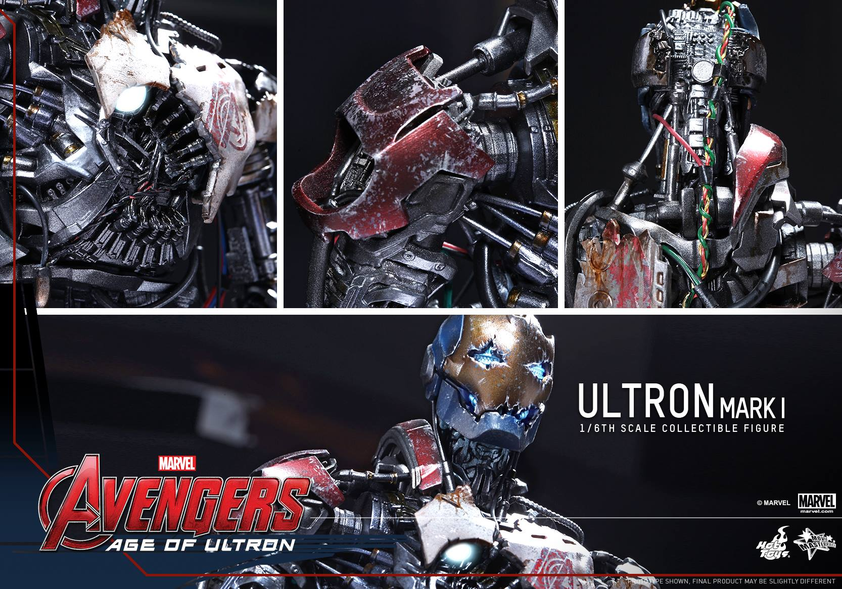 Hot Toys Ultron Mark 1 1//6th Scale Action Figure MMS292 Avengers AOU